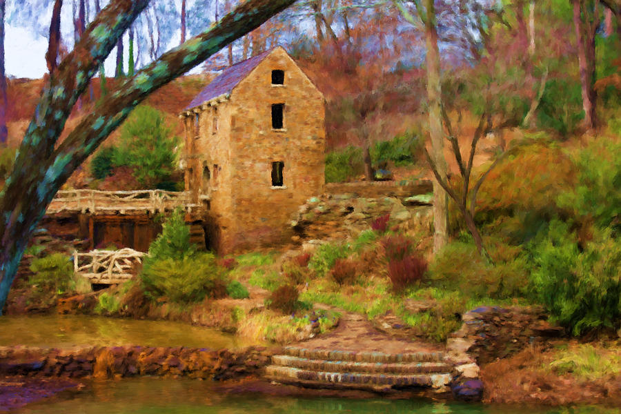 The Old Mill Digital Art  - The Old Mill Fine Art Print