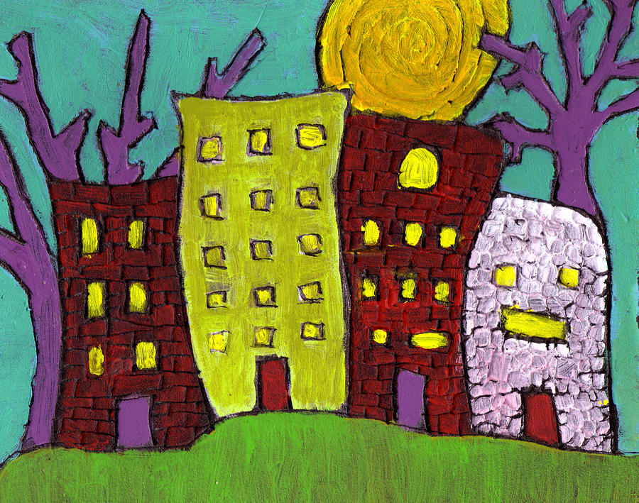 The Old Neighborhood Painting  - The Old Neighborhood Fine Art Print