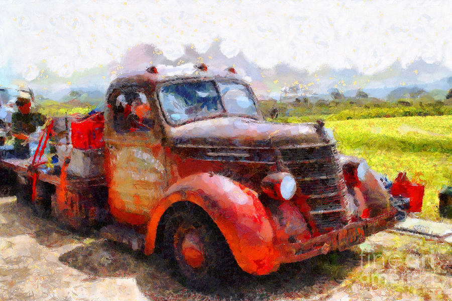 The Old Rusty Jalopy . 7d15500 Photograph