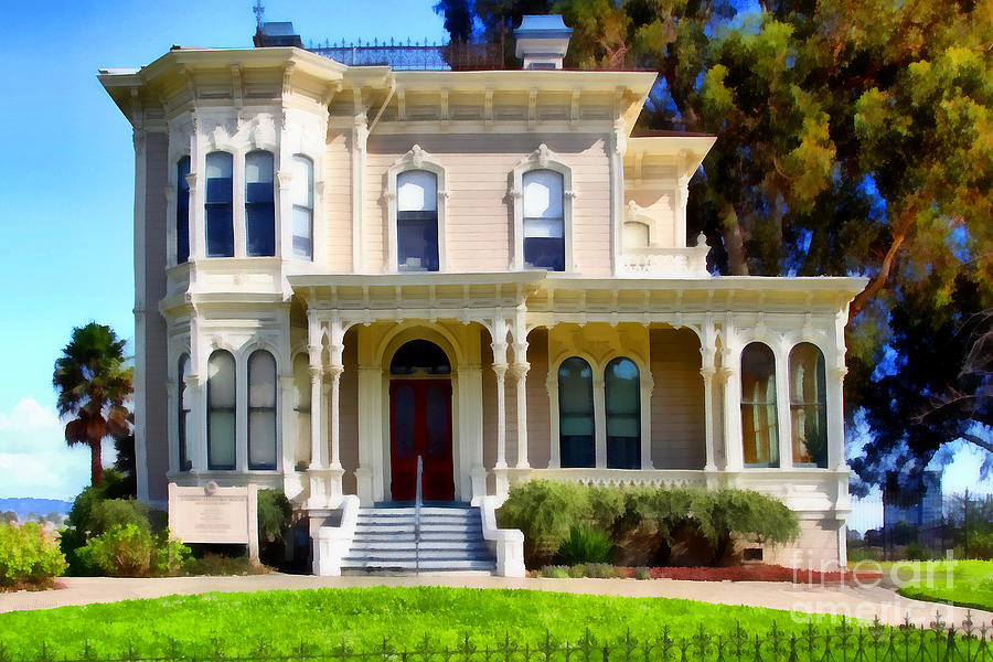The Old Victorian Camron-stanford House In Oakland California . 7d13440 Photograph