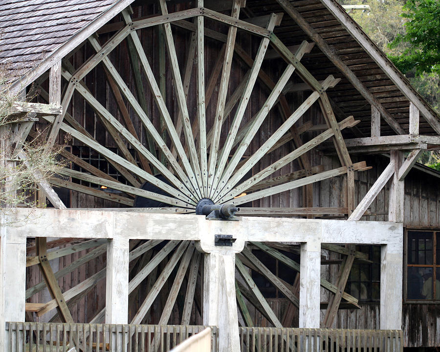 Waterwheel Photograph - The Old Waterwheel by April Wietrecki Green