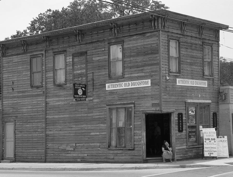 Historical Building Photograph - The Oldest Drugstore by Judy Wanamaker