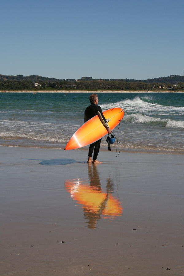 The Orange Surfboard Photograph