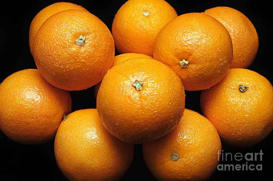 Fruit Photograph - The Oranges by Andee Design