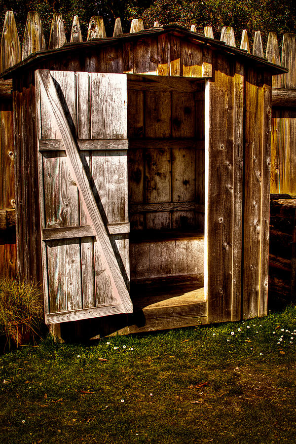 The Outhouse At Fort Nisqually Photograph  - The Outhouse At Fort Nisqually Fine Art Print