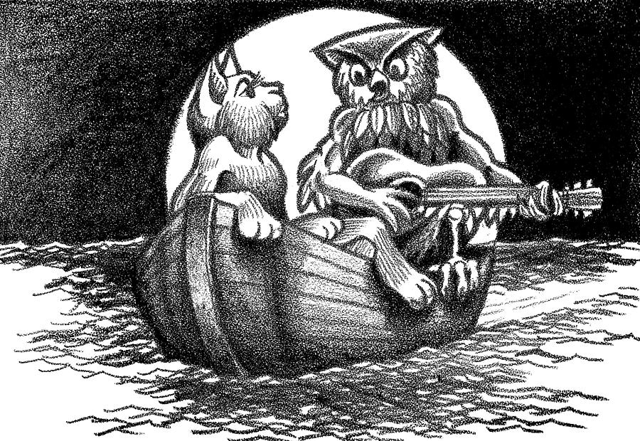 The Owl And The Pussycat Drawing
