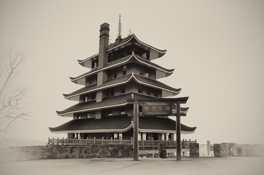 The Pagoda - Reading Pa. Photograph  - The Pagoda - Reading Pa. Fine Art Print