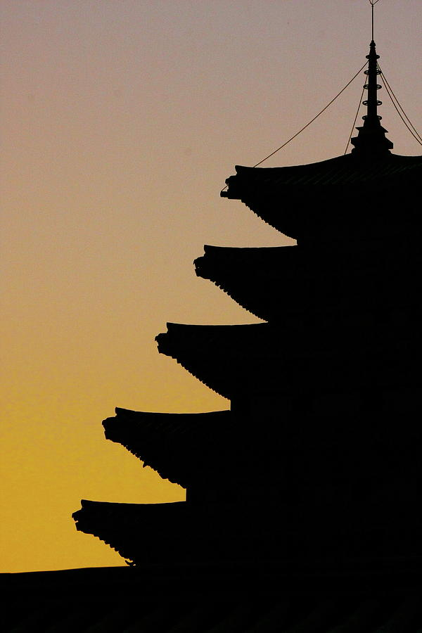 Vertical Photograph - The Pagoda At Gyeongbukgong In Seoul by Photography by Simon Bond