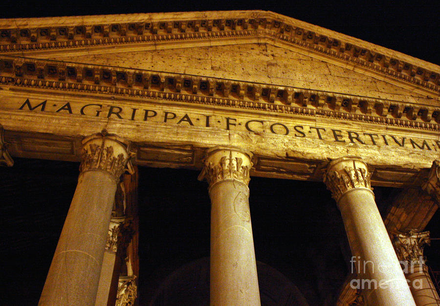 The Pantheon At Night Photograph  - The Pantheon At Night Fine Art Print