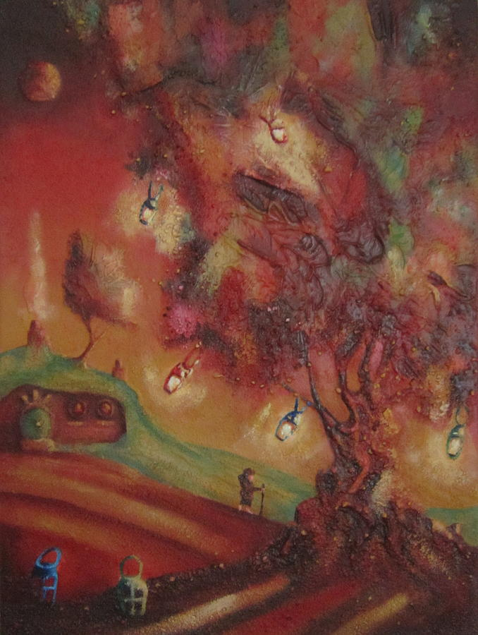 The Party Tree. Never To Be Seen Again. Painting  - The Party Tree. Never To Be Seen Again. Fine Art Print