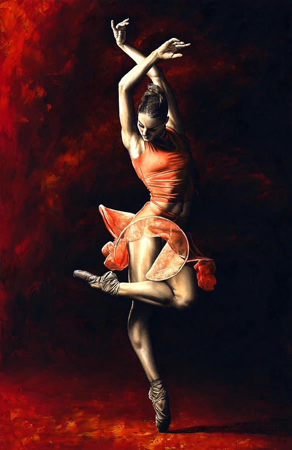 The Passion Of Dance Painting  - The Passion Of Dance Fine Art Print