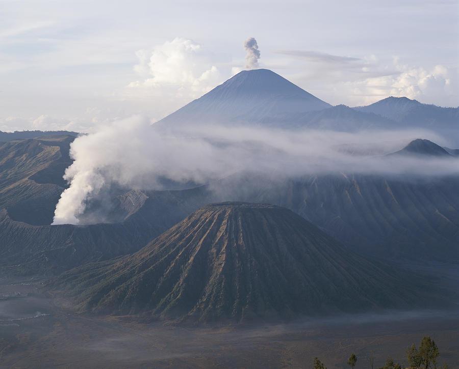 The Peak Of Semaru Rises Above Mount Photograph