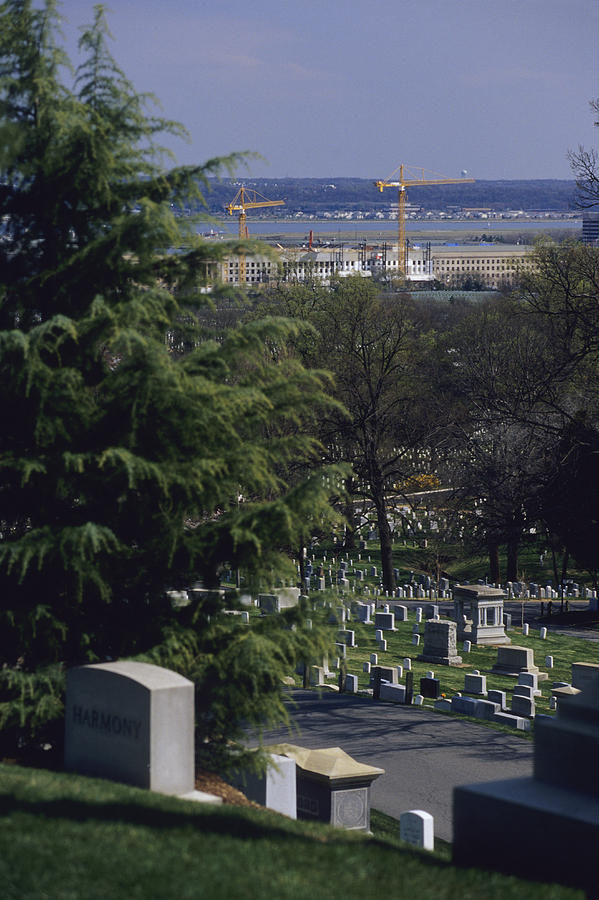 The Pentagon Looms Behind  Arlington Photograph