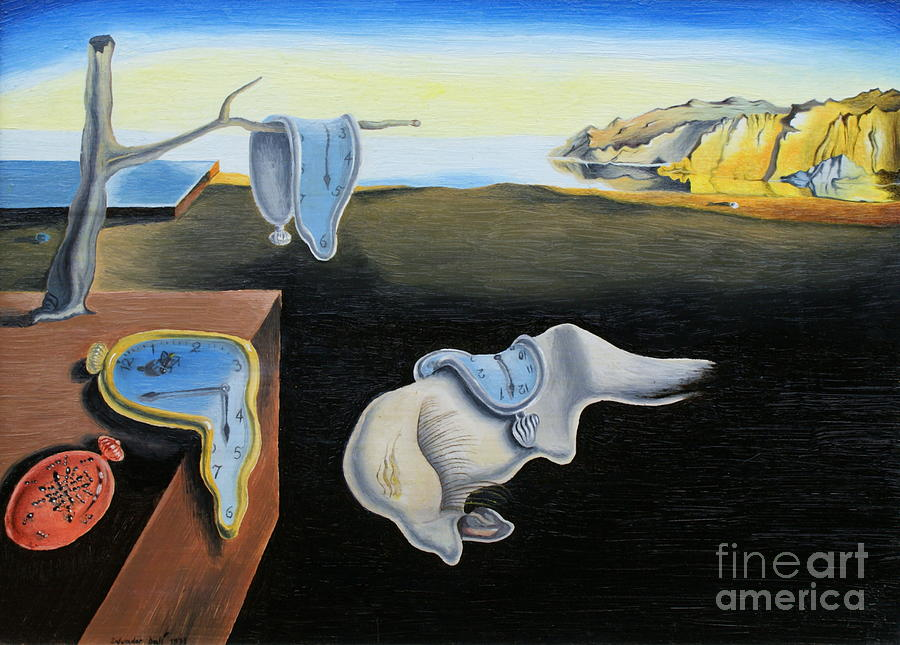 The Persistence Of Memory Salvador Dali Reproduction Painting  - The Persistence Of Memory Salvador Dali Reproduction Fine Art Print