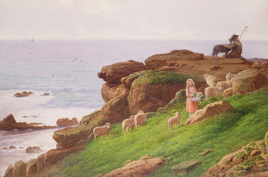 The Pet Lamb Painting