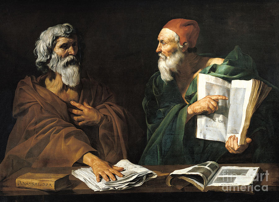 The Philosophers Painting  - The Philosophers Fine Art Print