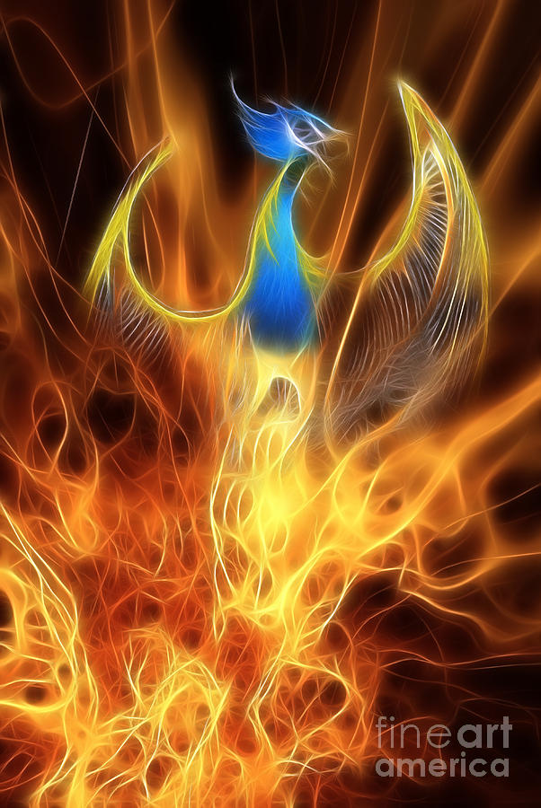 The Phoenix Rises From The Ashes Digital Art  - The Phoenix Rises From The Ashes Fine Art Print