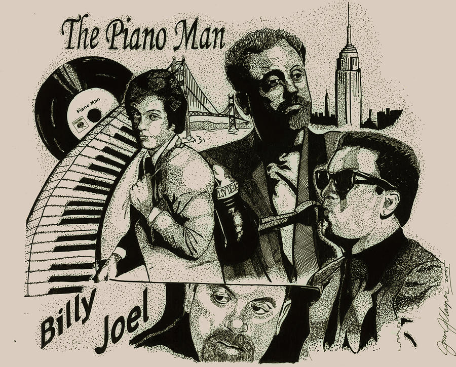 The Piano Man Drawing