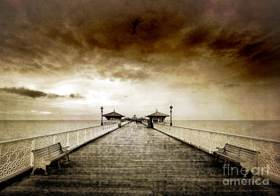 the pier at Llandudno Photograph  - the pier at Llandudno Fine Art Print