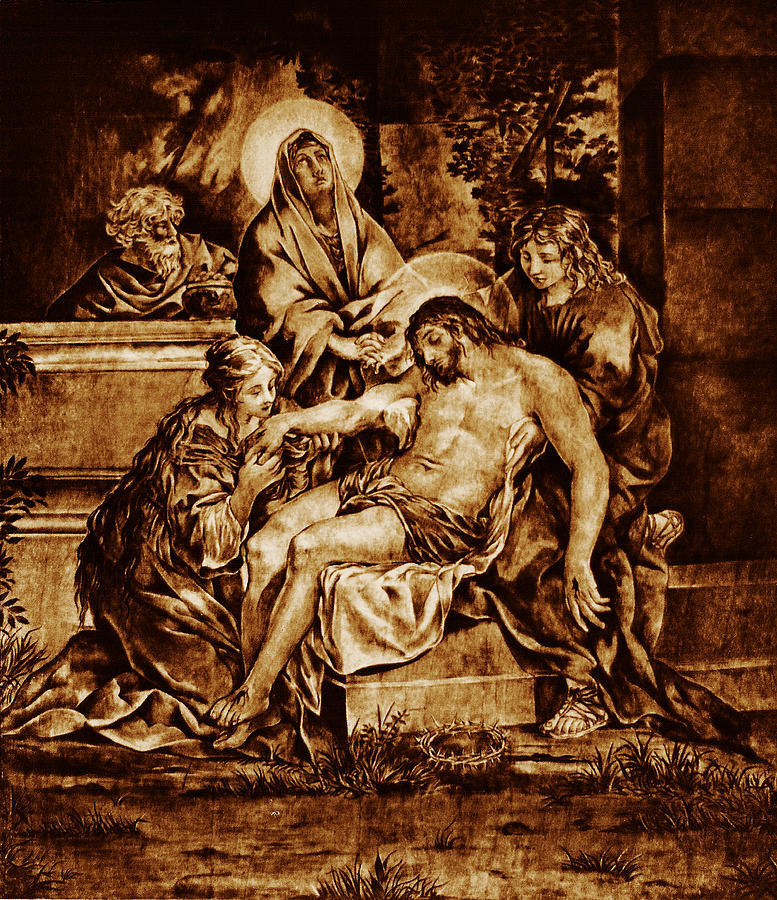 The Pieta Pyrography  - The Pieta Fine Art Print