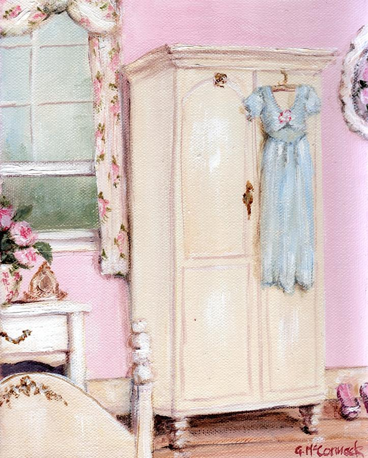 The Pink Bedroom Painting  - The Pink Bedroom Fine Art Print