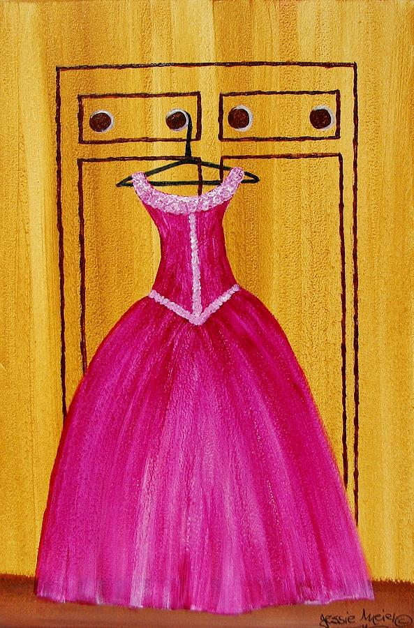 The Pink Dress 4535 Painting