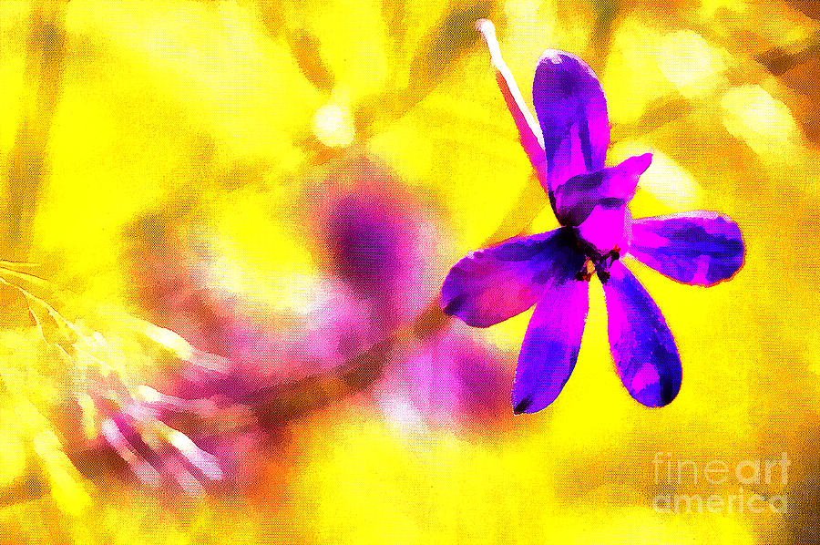 The Pink Flower Painting  - The Pink Flower Fine Art Print