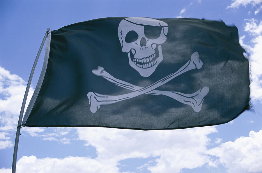 The Pirate Flag Known As The Jolly Photograph  - The Pirate Flag Known As The Jolly Fine Art Print