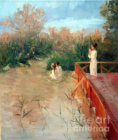 The Place Of The Baptism Painting