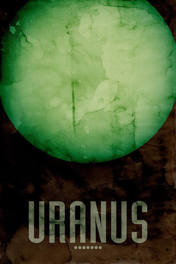 The Planet Uranus Digital Art  - The Planet Uranus Fine Art Print
