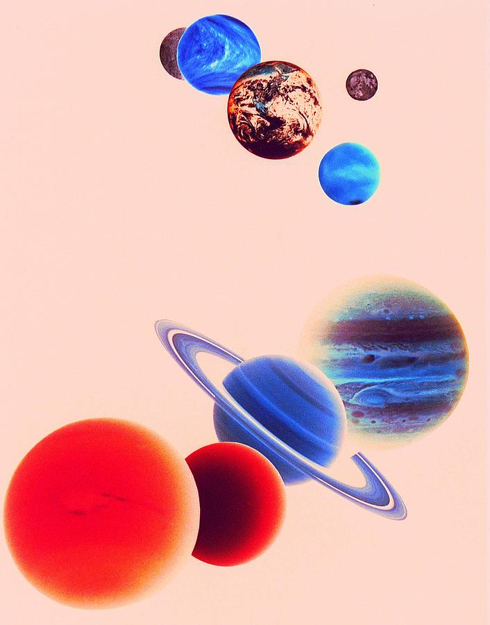 The Planets, Excluding Pluto Photograph  - The Planets, Excluding Pluto Fine Art Print
