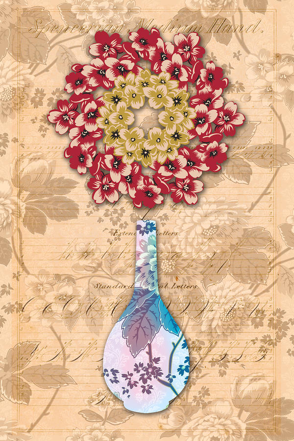 The Platonic Ideal Vase Number Four Mixed Media  - The Platonic Ideal Vase Number Four Fine Art Print