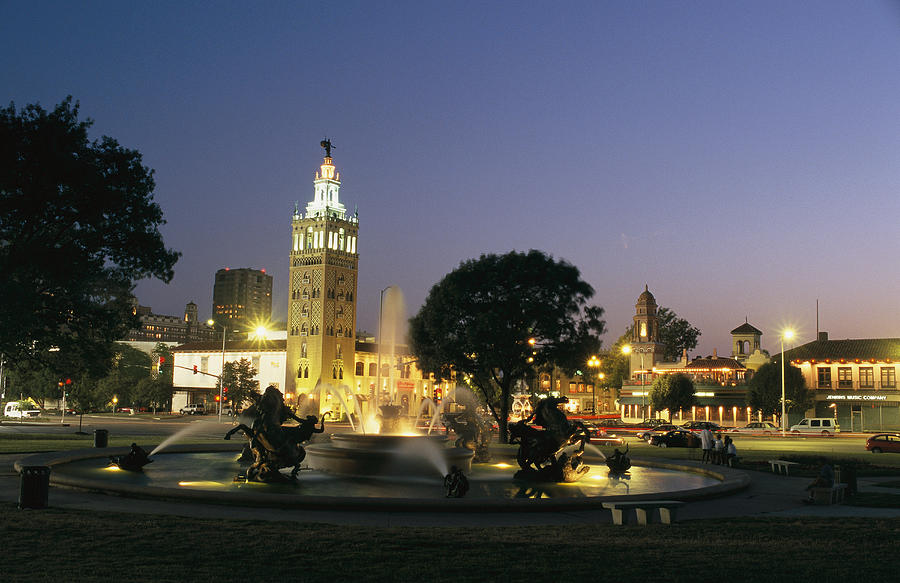 The Plaza In Kansas City, Mo, At Night Photograph