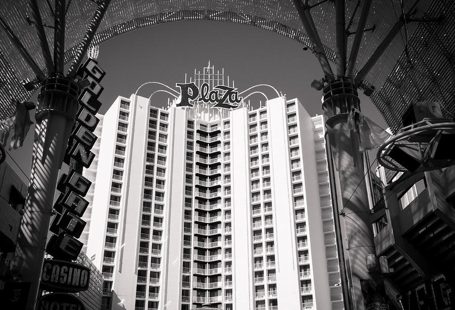Las Vagas Digital Art - The Plaza Las Vegas  by Susan Stone