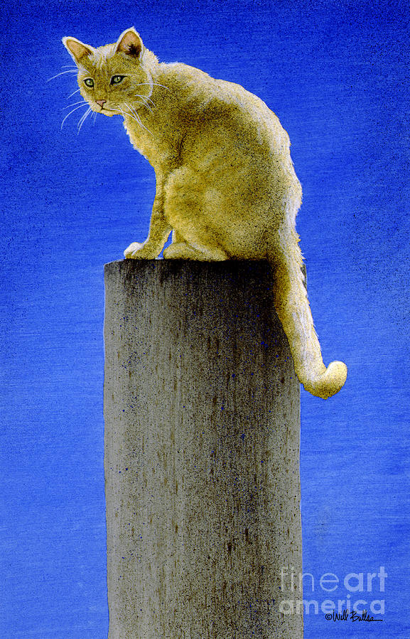 The Pole Cat... Painting  - The Pole Cat... Fine Art Print
