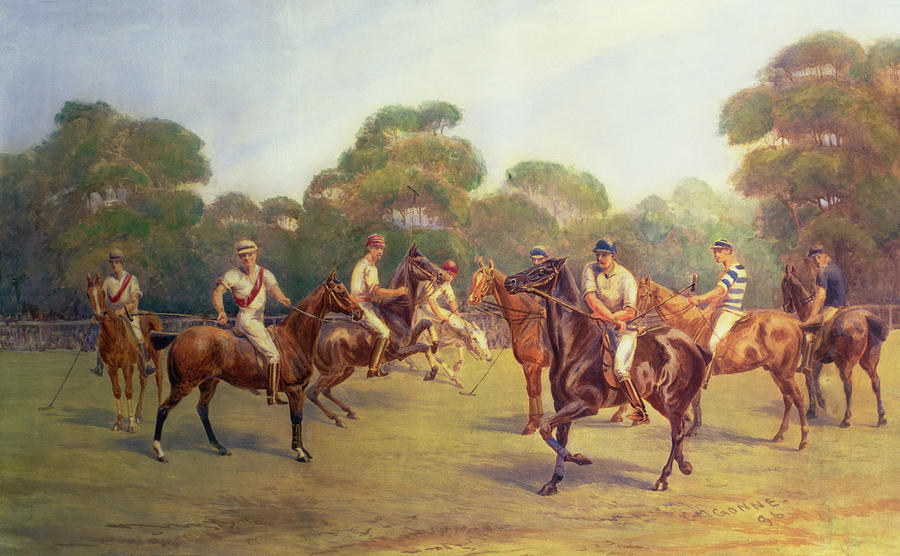 The Polo Match Painting  - The Polo Match Fine Art Print