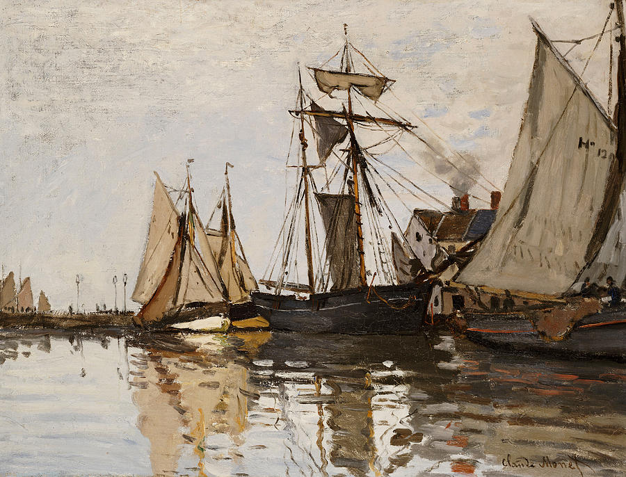 The Port Of Honfleur Painting  - The Port Of Honfleur Fine Art Print