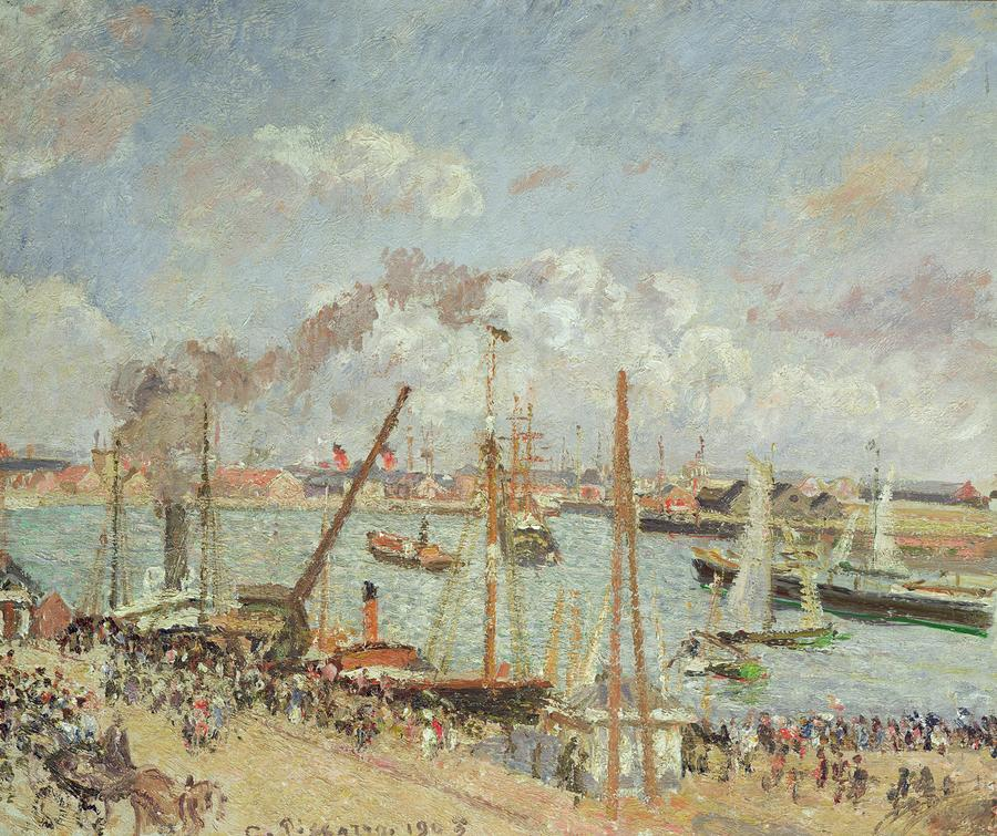 The Port Of Le Havre In The Afternoon Sun Painting  - The Port Of Le Havre In The Afternoon Sun Fine Art Print