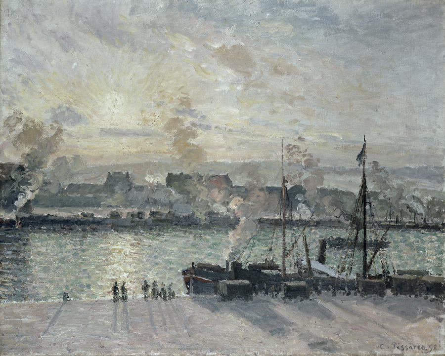 The Port Of Rouen Painting