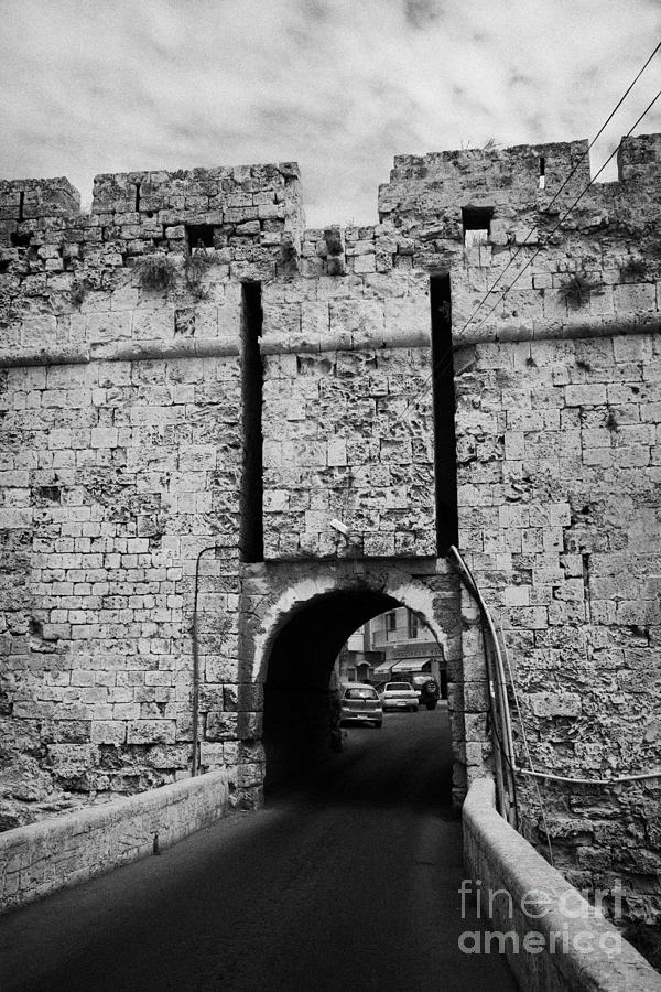 The Porta Di Limisso The Old Land Limassol Gate In The Old City Walls Famagusta Cyprus Photograph  - The Porta Di Limisso The Old Land Limassol Gate In The Old City Walls Famagusta Cyprus Fine Art Print