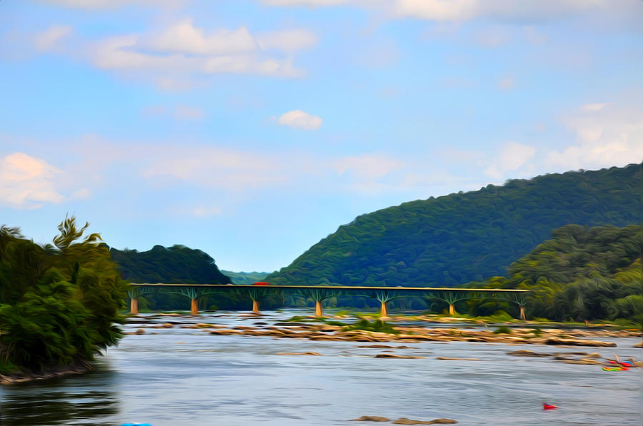 The Potomic River West Ivrginia Photograph - The Potomic River West Virginia by Bill Cannon