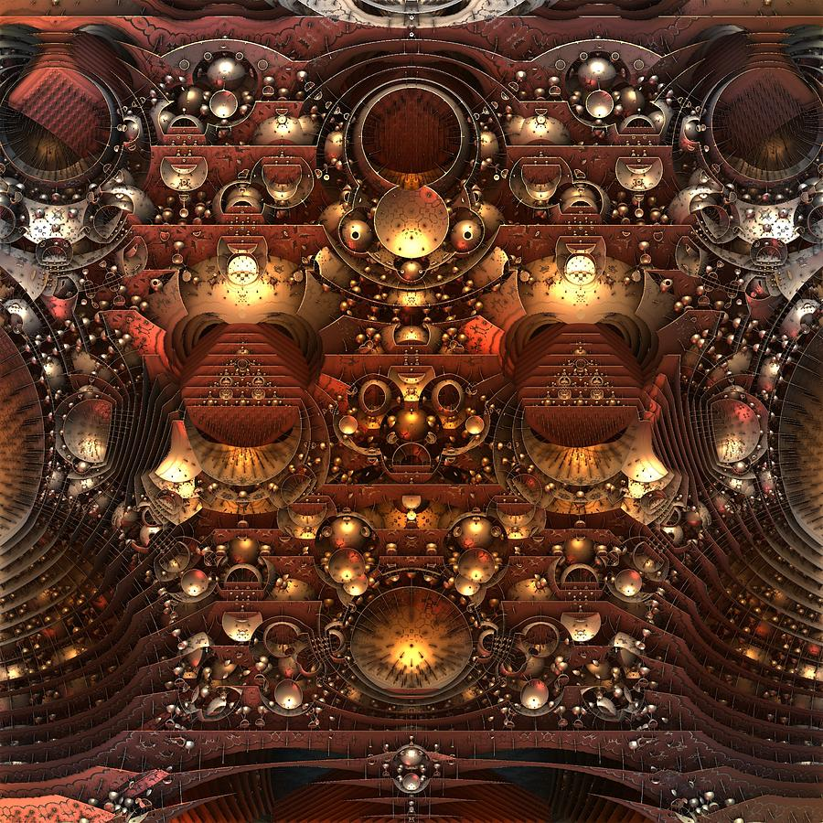 Fractal Digital Art - The Power And The Glory by Lyle Hatch