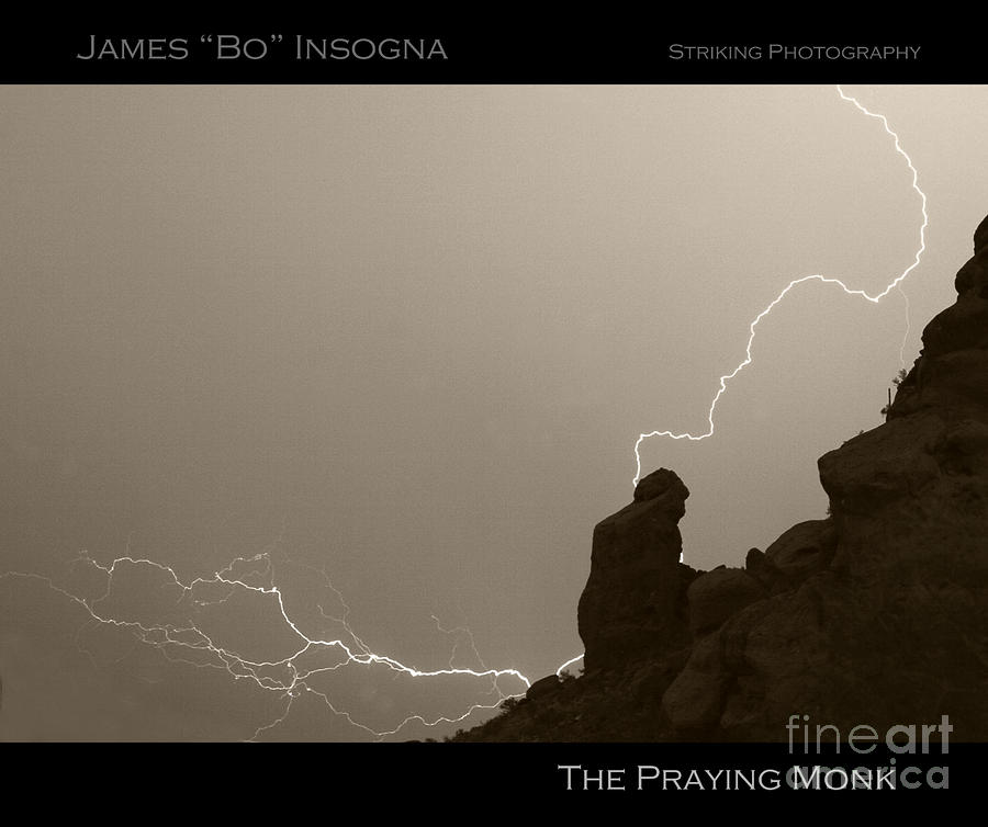 The Praying Monk Camelback Mountain Photograph  - The Praying Monk Camelback Mountain Fine Art Print