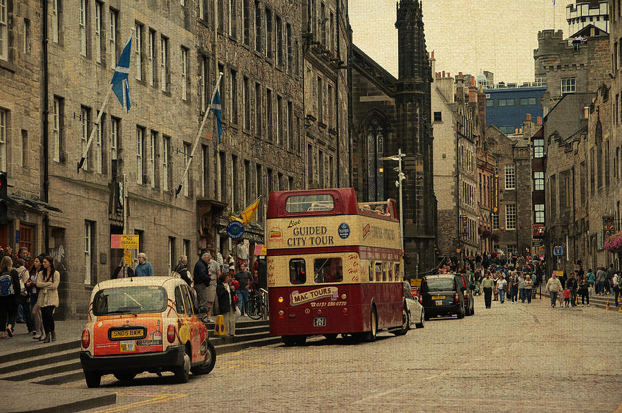 The Princes Street In Edinburgh. Scotland Photograph
