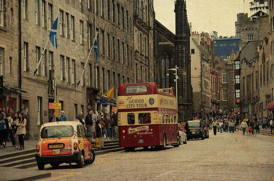 Scotland Photograph - The Princes Street In Edinburgh. Scotland by Jenny Rainbow