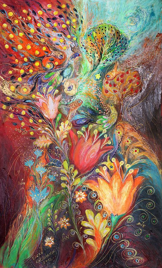 Judaica Painting - The Princesses Of Garden by Elena Kotliarker