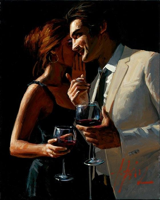 Lady Drinking Wine Painting