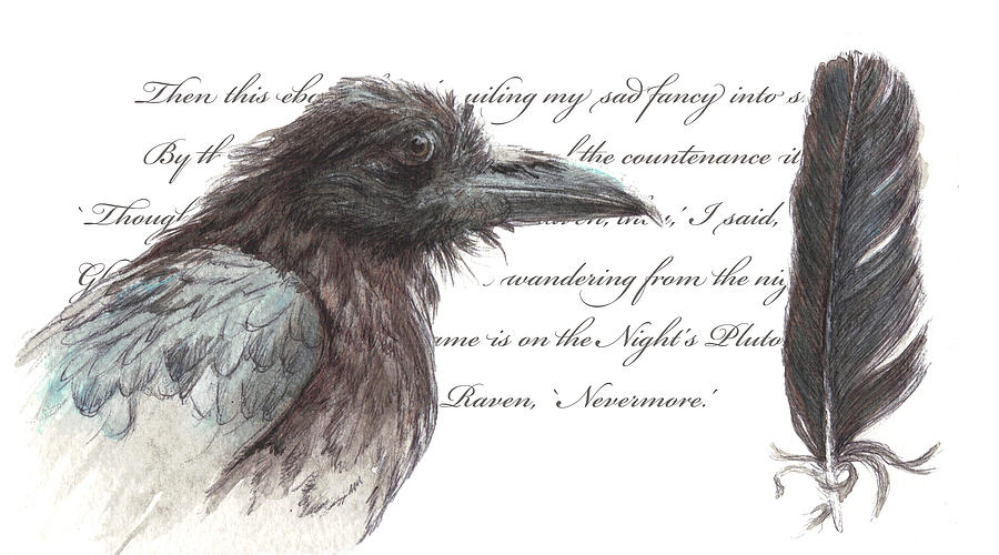 The Raven Painting  - The Raven Fine Art Print