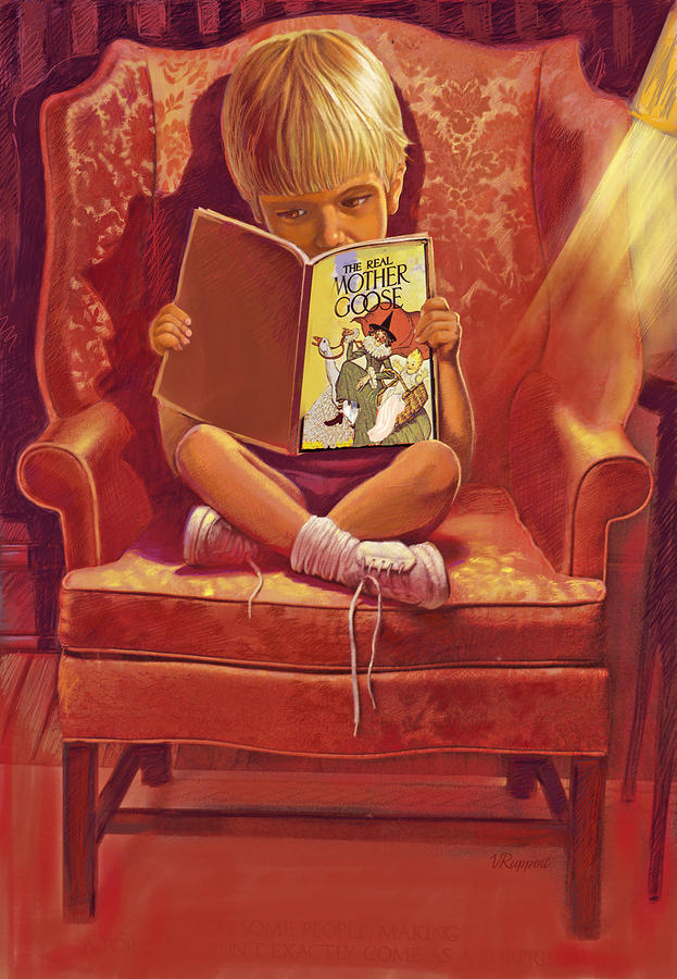 The Reader Pastel  - The Reader Fine Art Print
