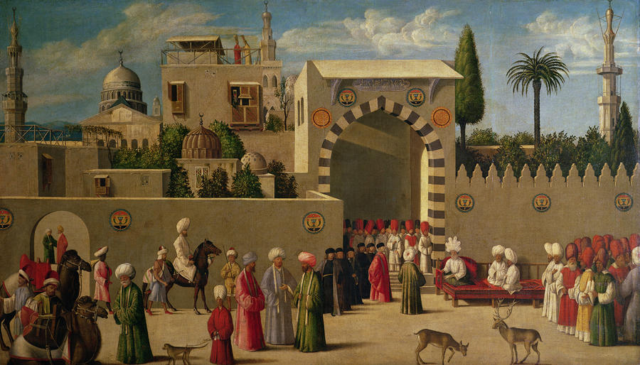 The Reception Of Domenico Trevisani In Cairo Painting